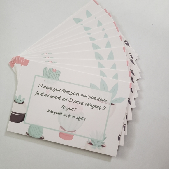 office  25 4x6 card stock succulents thank you cards
